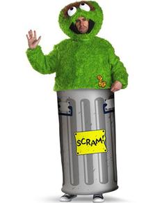 Oskar aus der Mülltonne Kostüm Sesamstraße