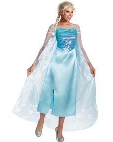 Elsa Kostüm für Damen deluxe Die Eiskönigin - Völlig unverfroren